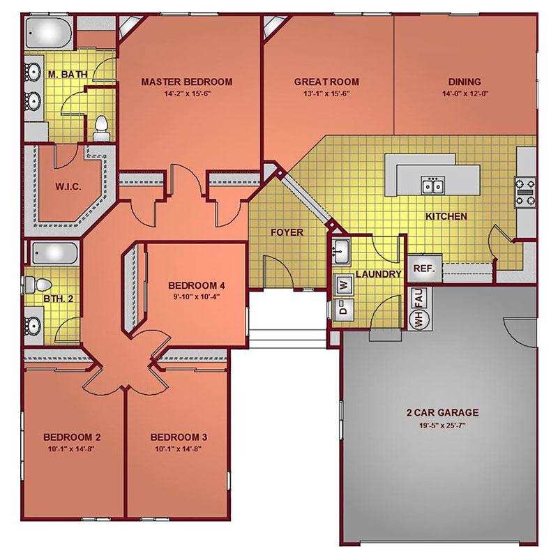 Model 1977 - Standard Floor Plan